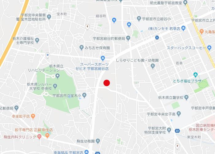 アクロスプラザ宝木の場所地図
