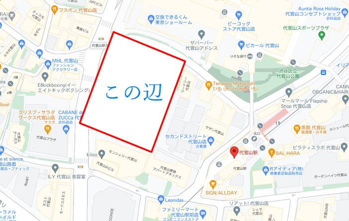 代官山町プロジェクトの場所