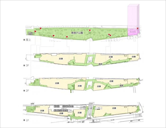 宮下公園フロアマップ
